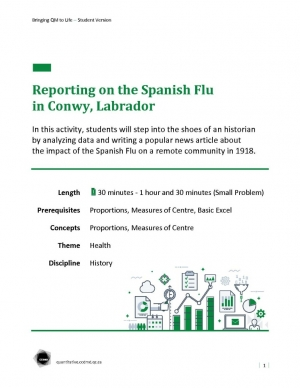 Reporting on the Spanish Flu in Conwy,Labrador