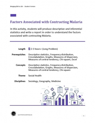 Document : Factors Associated with Contracting Malaria