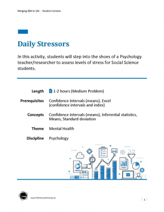 Document : Daily Stressors
