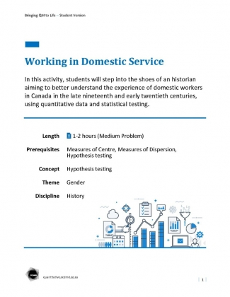 Document : Working in Domestic Service