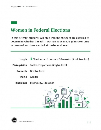 Document : Women in Federal Elections