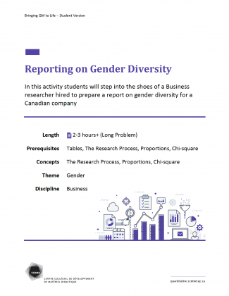 Document : Reporting on Gender Diversity