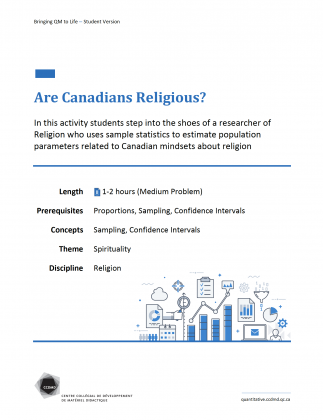 Document : Are Canadians Religious?